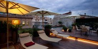 Piscina Terraza del Mercer Hotel Barcelona de Noche
